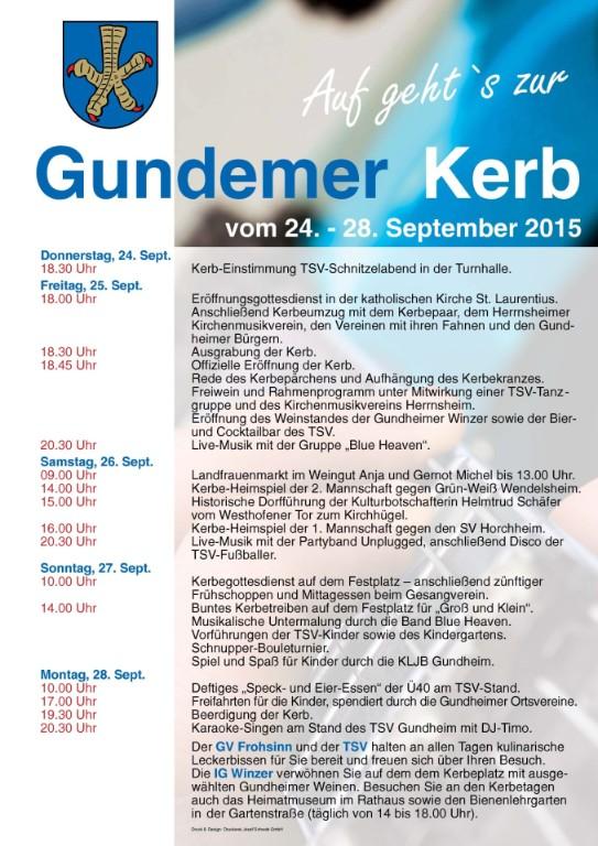Gundheimer Kerwe 2015 Thumbnail